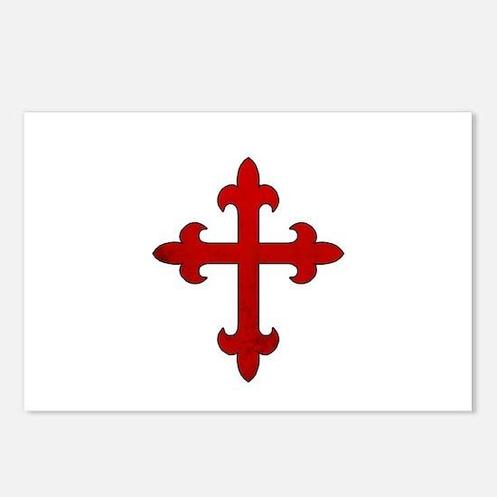 Crusader Cross Postcards (Package of 8)