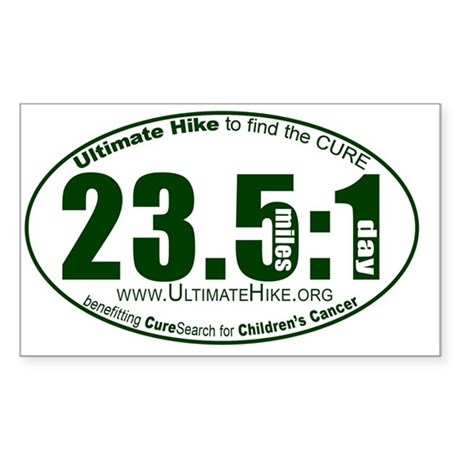 23.5 Miles:1 Day Sticker (Rectangle)