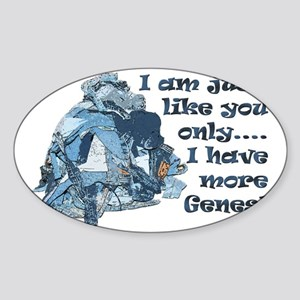 More Jeans Sticker (Oval)