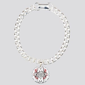 Rugby Mom (cross) Charm Bracelet, One Charm