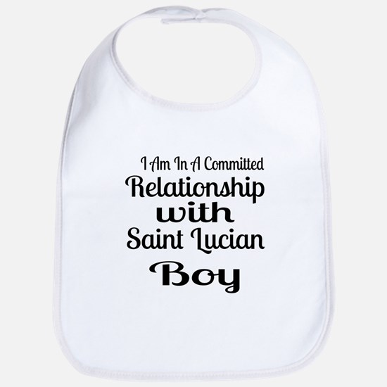 I Am In Relationship With Saint Lu Cotton Baby Bib