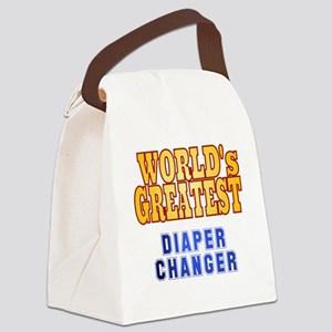 World's Greatest Diaper Changer Canvas Lunch Bag