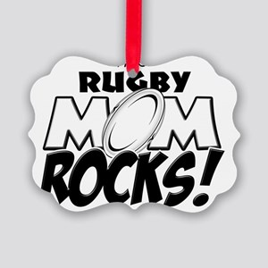 This Rugby Mom Rocks copy Picture Ornament