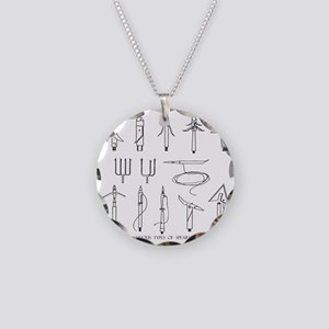 VINTAGE SPEARGUN TIPS Necklace Circle Charm