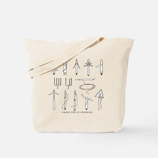 VINTAGE SPEARGUN TIPS Tote Bag