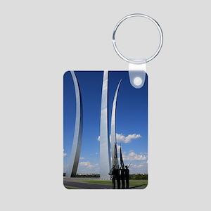 Air Force Memorial Aluminum Photo Keychain