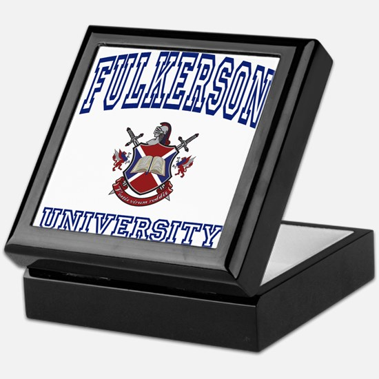 FULKERSON University Keepsake Box