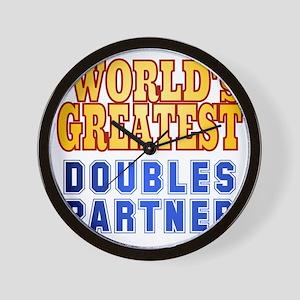 World's Greatest Doubles Partner Wall Clock