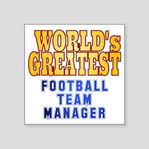 "World's Greatest Football T Square Sticker 3"" x 3"""