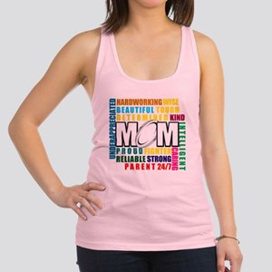 What is a Rugby Mom copy Racerback Tank Top