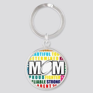 What is a Rugby Mom copy Round Keychain