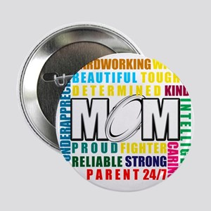 """What is a Rugby Mom copy 2.25"""" Button"""