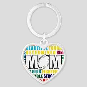 What is a Rugby Mom copy Heart Keychain