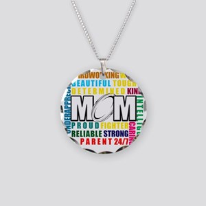 What is a Rugby Mom copy Necklace Circle Charm