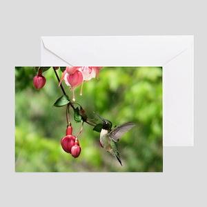 Hummingbird Black-chinned Greeting Card
