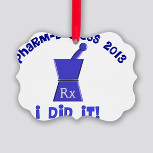 pharmD class of 2013 I did it Picture Ornament