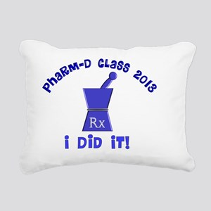 pharmD class of 2013 I d Rectangular Canvas Pillow
