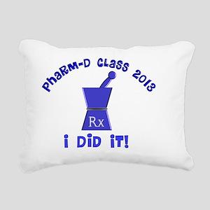 pharmD class of 2013 I d Rectangular Canvas Pillow