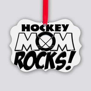 This Hockey Mom Rocks copy Picture Ornament