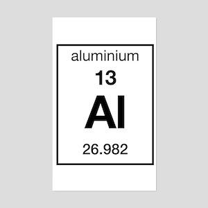 Aluminum periodic table stickers cafepress aluminium rectangle sticker urtaz Choice Image