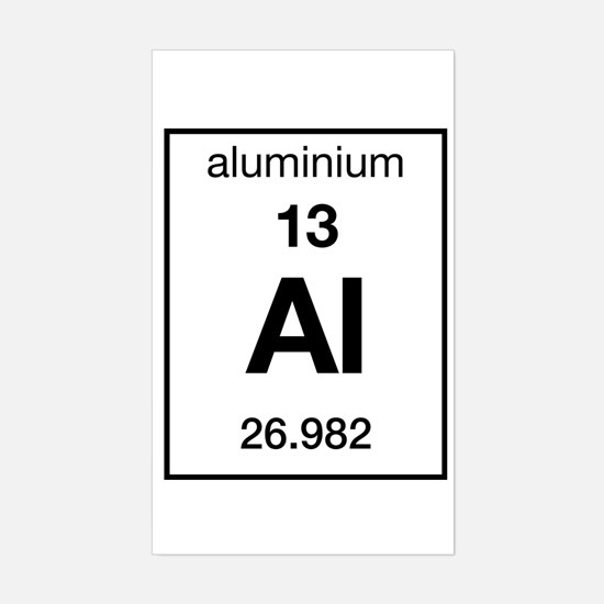 Periodic table name for aluminum choice image periodic table and aluminum periodic table stickers cafepress aluminium rectangle decal flavorsomefo choice image urtaz Gallery