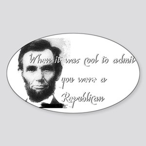 Cool Abe Sticker (Oval)
