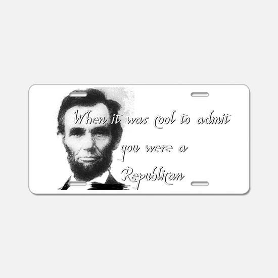 Cool Abe Aluminum License Plate