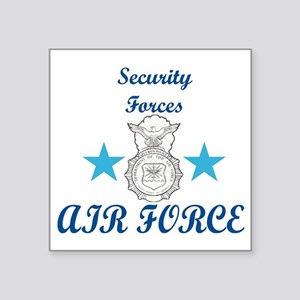 """Sec. For. Air Force Square Sticker 3"""" x 3"""""""