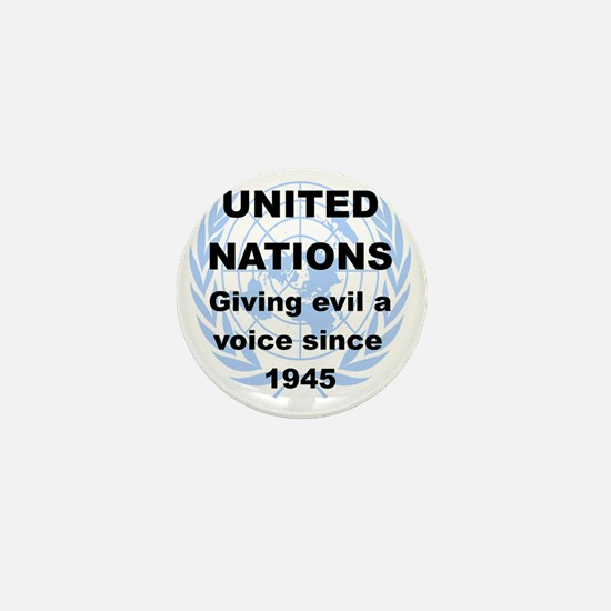 UNITED NATIONS GIVING EVIL A VOICE SIN Mini Button