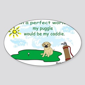 puggle Sticker (Oval)