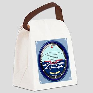 ArtHorizCoinPurse-b Canvas Lunch Bag