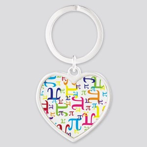 Pieces of Pi Heart Keychain