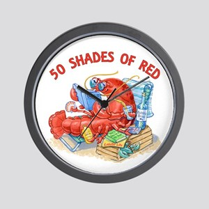 50 Shades of Red Wall Clock