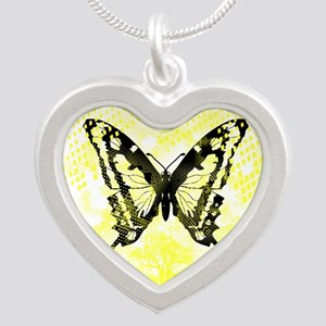 Butterfly Silver Heart Necklace