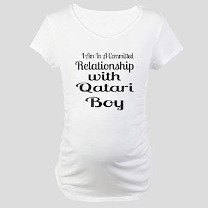 I Am In Relationship With Qatari Maternity T-Shirt