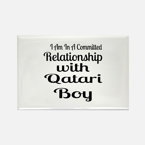 I Am In Relationship With Qatari Rectangle Magnet