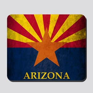 Grunge Arizona Flag Mousepad