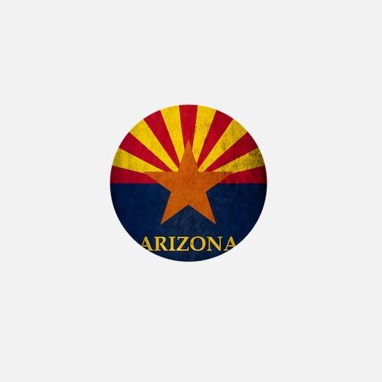Grunge Arizona Flag Mini Button