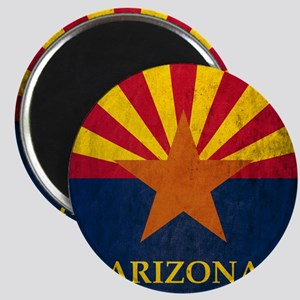Grunge Arizona Flag Magnet