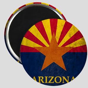 Grunge Arizona Flag Magnet