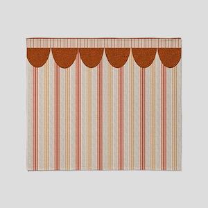 Red Stripes Throw Blanket