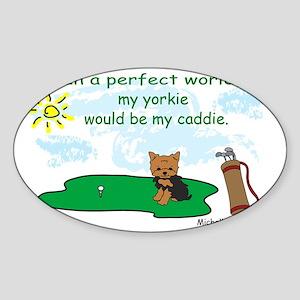yorkie Sticker (Oval)