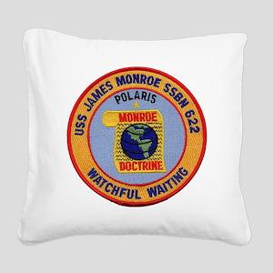 uss james monroe patch transp Square Canvas Pillow
