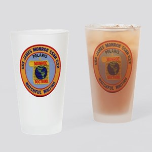 uss james monroe patch transparent Drinking Glass