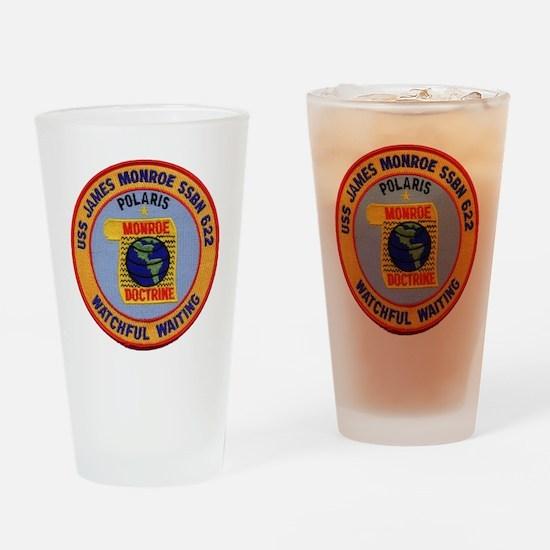 uss james monroe patch transparent Drinking Glass