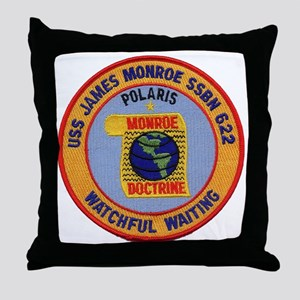 uss james monroe patch transparent Throw Pillow