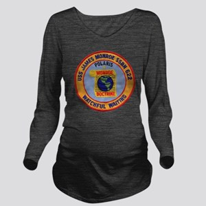 uss james monroe pat Long Sleeve Maternity T-Shirt