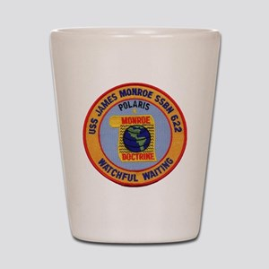 uss james monroe patch transparent Shot Glass