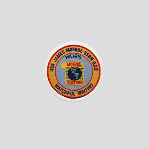 uss james monroe patch transparent Mini Button