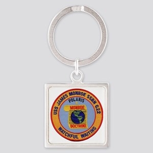 uss james monroe patch transparent Square Keychain